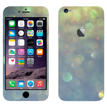 Виниловая наклейка «Бокэ перламутр» на телефон Apple iPhone 6 Plus/6S Plus