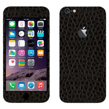 Виниловая наклейка «Черная кожа» на телефон Apple iPhone 6 Plus/6S Plus