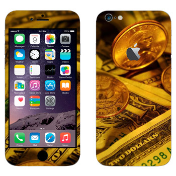 Виниловая наклейка «Деньги США» на телефон Apple iPhone 6 Plus/6S Plus