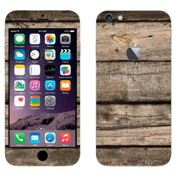 Виниловая наклейка «Деревянные доски» на телефон Apple iPhone 6 Plus/6S Plus