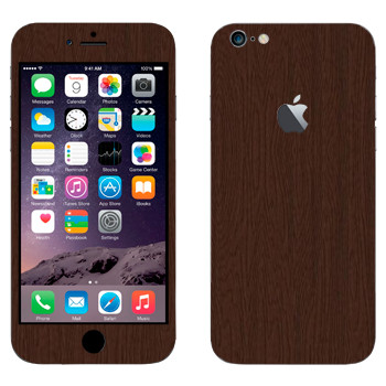 Виниловая наклейка «Древесина коричневая» на телефон Apple iPhone 6 Plus/6S Plus