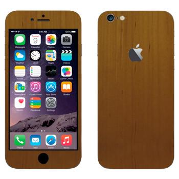 Виниловая наклейка «Древесина светло-коричневая» на телефон Apple iPhone 6 Plus/6S Plus
