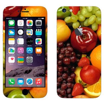 Виниловая наклейка «Фруктово-ягодный набор» на телефон Apple iPhone 6 Plus/6S Plus