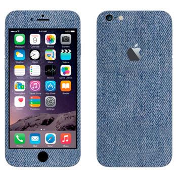 Виниловая наклейка «Голубой джинс» на телефон Apple iPhone 6 Plus/6S Plus
