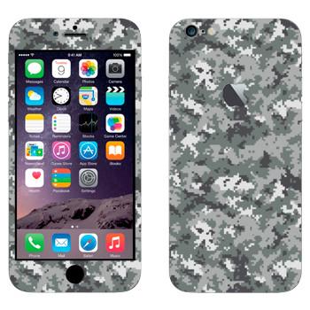 Виниловая наклейка «Камуфляж пиксельный» на телефон Apple iPhone 6 Plus/6S Plus
