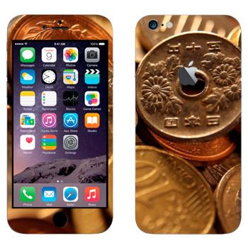 Виниловая наклейка «Китайские монеты» на телефон Apple iPhone 6 Plus/6S Plus