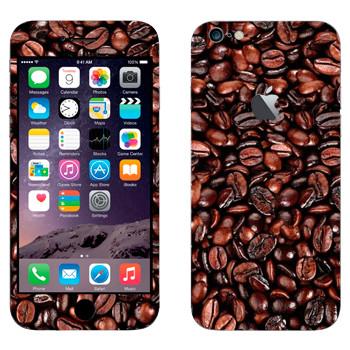 Виниловая наклейка «Кофейные зерна» на телефон Apple iPhone 6 Plus/6S Plus