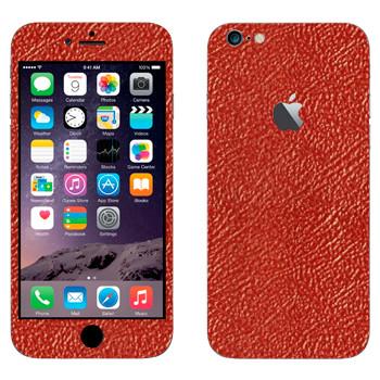Виниловая наклейка «Кожа красная» на телефон Apple iPhone 6 Plus/6S Plus
