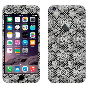 Виниловая наклейка «Кружево в мелкие цветки» на телефон Apple iPhone 6 Plus/6S Plus