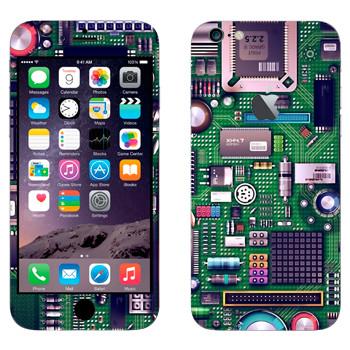 Виниловая наклейка «Материнская плата» на телефон Apple iPhone 6 Plus/6S Plus