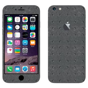 Виниловая наклейка «Металл с мелкими круглыми насечками» на телефон Apple iPhone 6 Plus/6S Plus