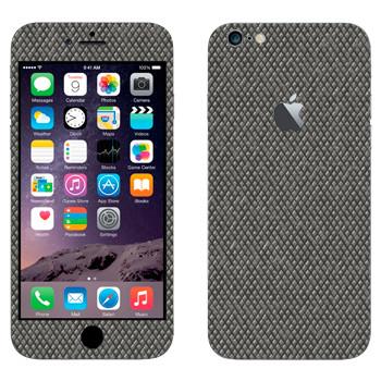 Виниловая наклейка «Металлическая поверхность с мелким рифлением» на телефон Apple iPhone 6 Plus/6S Plus