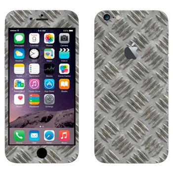 Виниловая наклейка «Металлический рифленый лист» на телефон Apple iPhone 6 Plus/6S Plus