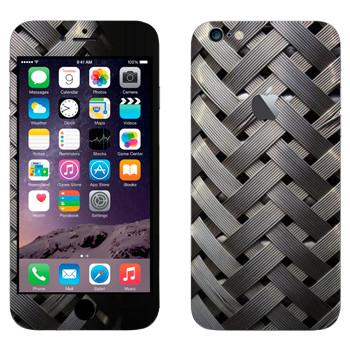 Виниловая наклейка «Металлическое плетение» на телефон Apple iPhone 6 Plus/6S Plus