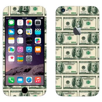Виниловая наклейка «Много долларов» на телефон Apple iPhone 6 Plus/6S Plus