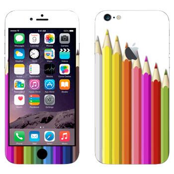 Виниловая наклейка «Набор карандашей» на телефон Apple iPhone 6 Plus/6S Plus