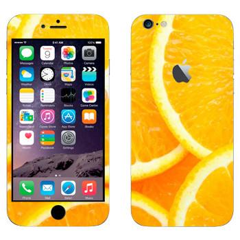 Виниловая наклейка «Нарезанный апельсин» на телефон Apple iPhone 6 Plus/6S Plus