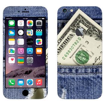 Виниловая наклейка «Один доллар» на телефон Apple iPhone 6 Plus/6S Plus