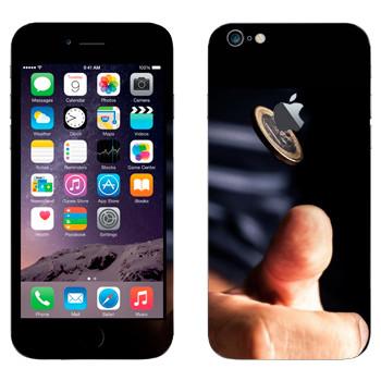 Виниловая наклейка «Орел или решка» на телефон Apple iPhone 6 Plus/6S Plus