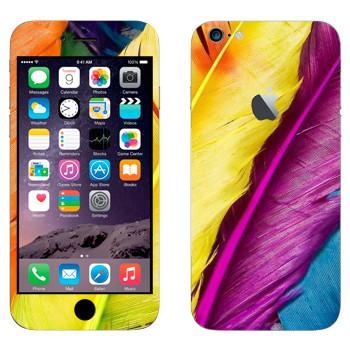 Виниловая наклейка «Пестрые перья» на телефон Apple iPhone 6 Plus/6S Plus