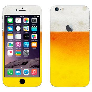 Виниловая наклейка «Пиво пенное» на телефон Apple iPhone 6 Plus/6S Plus
