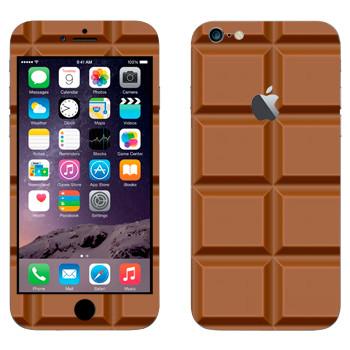 Виниловая наклейка «Плитка молочного шоколада» на телефон Apple iPhone 6 Plus/6S Plus