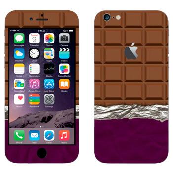 Виниловая наклейка «Плитка шоколада» на телефон Apple iPhone 6 Plus/6S Plus