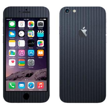 Виниловая наклейка «Полосатая серая ткань» на телефон Apple iPhone 6 Plus/6S Plus