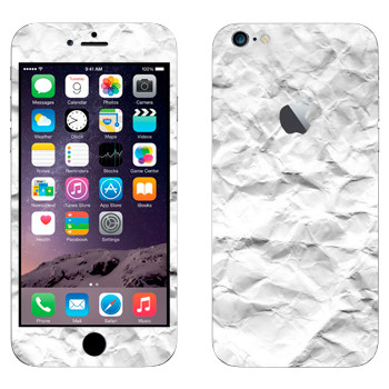 Виниловая наклейка «Помятая бумага» на телефон Apple iPhone 6 Plus/6S Plus