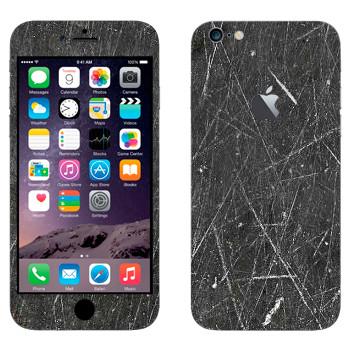 Виниловая наклейка «Расцарапанный металл» на телефон Apple iPhone 6 Plus/6S Plus
