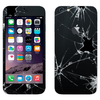 Виниловая наклейка «Разбитое стекло» на телефон Apple iPhone 6 Plus/6S Plus