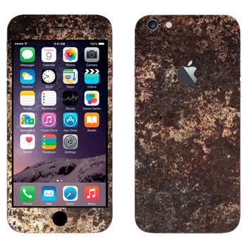 Виниловая наклейка «Ржавчина на металле» на телефон Apple iPhone 6 Plus/6S Plus