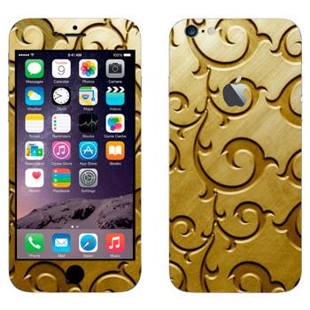 Виниловая наклейка «Роспись по золоту» на телефон Apple iPhone 6 Plus/6S Plus