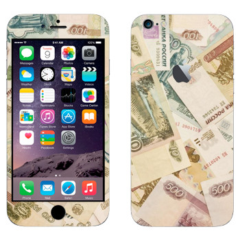 Виниловая наклейка «Российские деньги» на телефон Apple iPhone 6 Plus/6S Plus