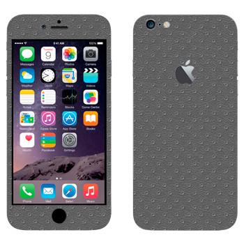 Виниловая наклейка «Серая кожа» на телефон Apple iPhone 6 Plus/6S Plus
