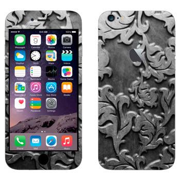 Виниловая наклейка «Серебряные листья» на телефон Apple iPhone 6 Plus/6S Plus