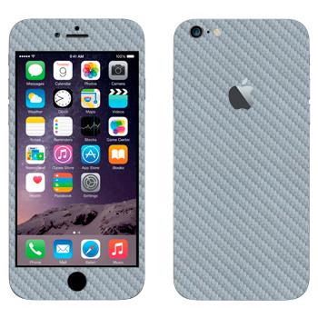 Виниловая наклейка «Серый карбон» на телефон Apple iPhone 6 Plus/6S Plus