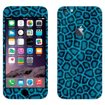 Виниловая наклейка «Шкура леопарда синяя» на телефон Apple iPhone 6 Plus/6S Plus