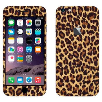 Виниловая наклейка «Шкура Леопарда » на телефон Apple iPhone 6 Plus/6S Plus