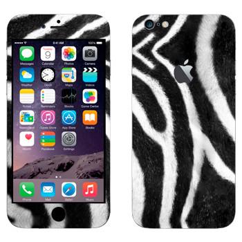Виниловая наклейка «Шкура зебры Гранта» на телефон Apple iPhone 6 Plus/6S Plus