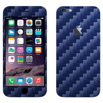Виниловая наклейка «Синий карбон» на телефон Apple iPhone 6 Plus/6S Plus