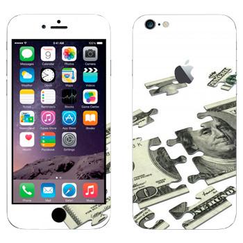 Виниловая наклейка «Стодолларовый пазл» на телефон Apple iPhone 6 Plus/6S Plus