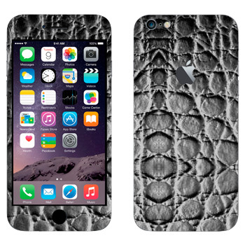 Виниловая наклейка «Текстура черной кожи» на телефон Apple iPhone 6 Plus/6S Plus