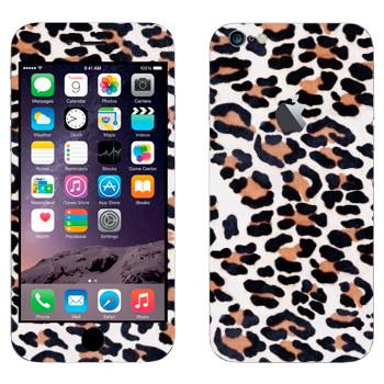 Виниловая наклейка «Текстура шкуры леопарда» на телефон Apple iPhone 6 Plus/6S Plus