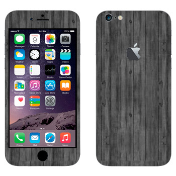 Виниловая наклейка «Темные деревянные доски» на телефон Apple iPhone 6 Plus/6S Plus