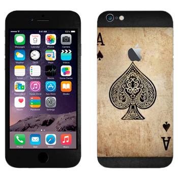 Виниловая наклейка «Туз пик» на телефон Apple iPhone 6 Plus/6S Plus