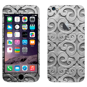 Виниловая наклейка «Узор из серебра» на телефон Apple iPhone 6 Plus/6S Plus