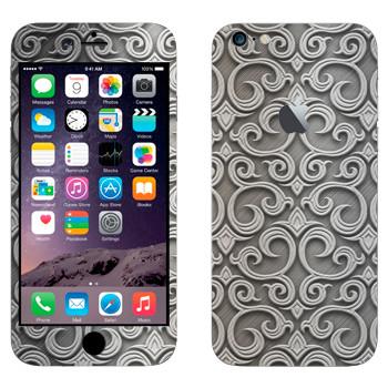 Виниловая наклейка «Узор серебром» на телефон Apple iPhone 6 Plus/6S Plus