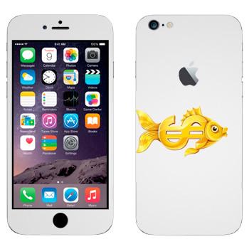 Виниловая наклейка «Валютная золотая рыбка» на телефон Apple iPhone 6 Plus/6S Plus