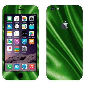 Виниловая наклейка «Зеленая шелковая ткань» на телефон Apple iPhone 6 Plus/6S Plus